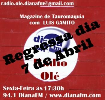 Rádio Olé da Diana fm regressa dia 7 de Abril