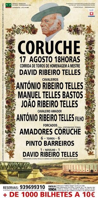 Homenagem a Mestre David Ribeiro Telles, a 17 de agosto em Coruche