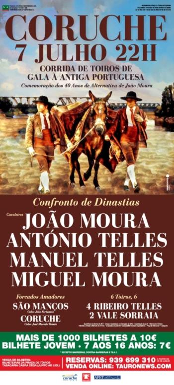 Confronto Moura-Telles em Coruche em Corrida à Antiga Portuguesa