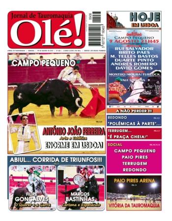 Jornal Olé, Próxima quinta feira nas bancas!